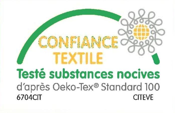 OEKO-TEX ® ST 100  TEINTURE CLASSE I